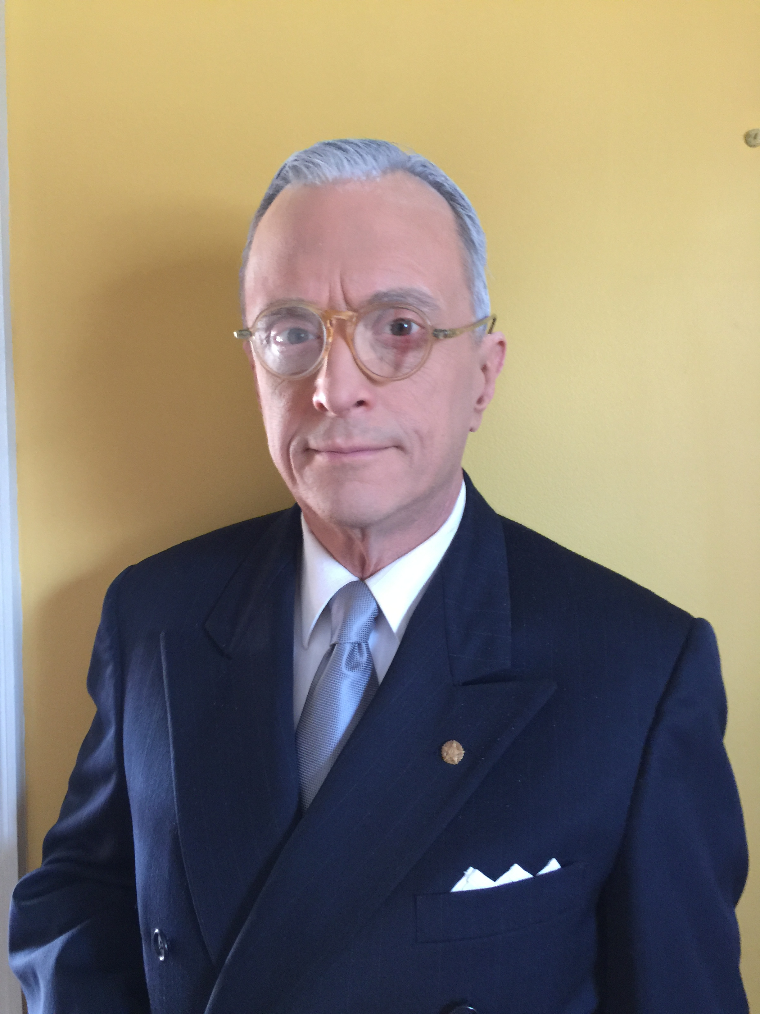 """David Lundy stars as Harry Truman in """"Give 'em Hell Harry"""" at New Phoenix Theatre."""