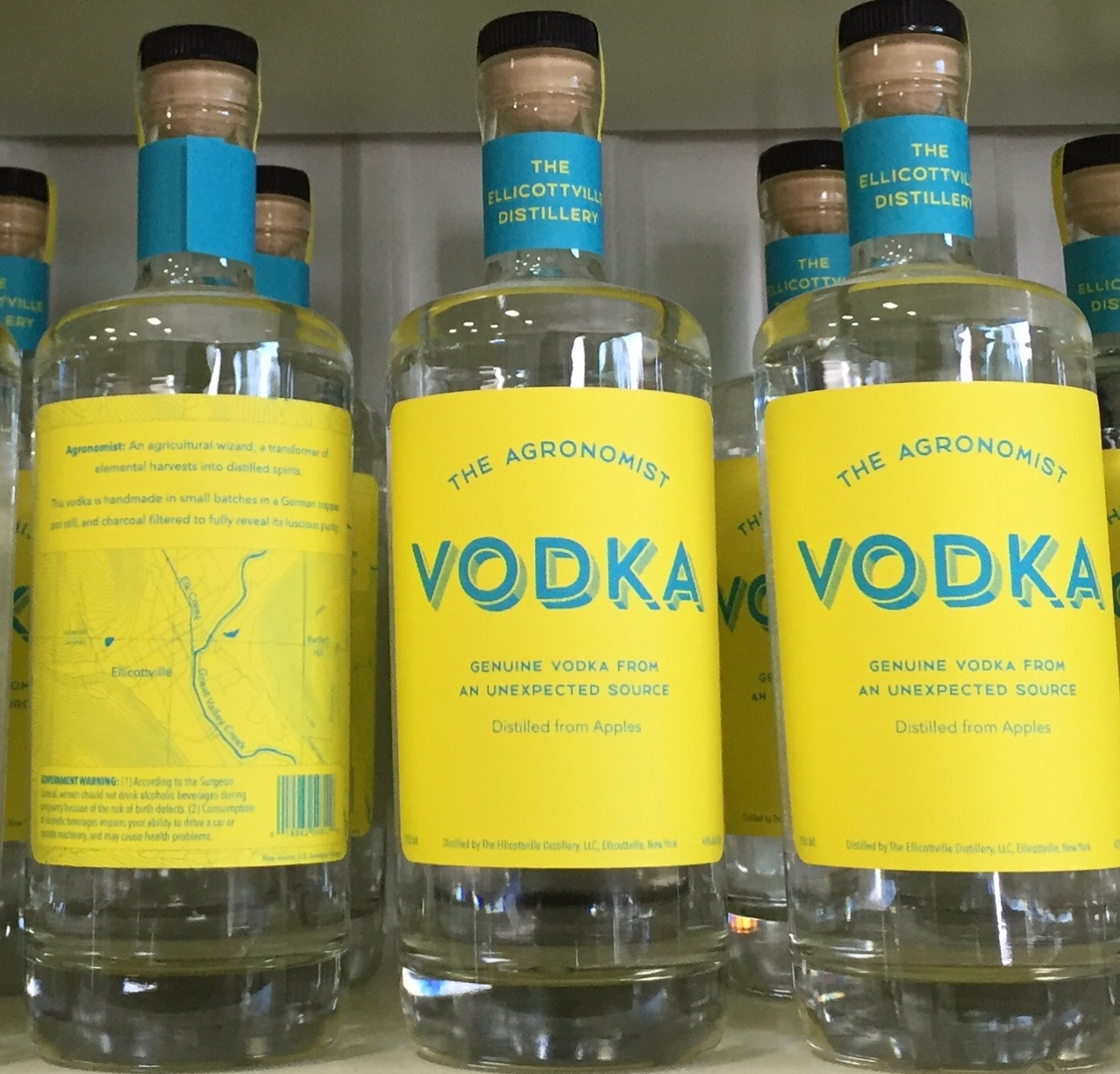 One of two of The Agronomist's vodkas that will be ready for Ellicottville Distillery's debut.