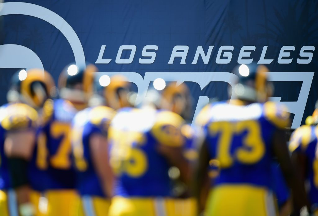 The NFL is finally back in Los Angeles for the first time since the 1994 season. (Getty Images)