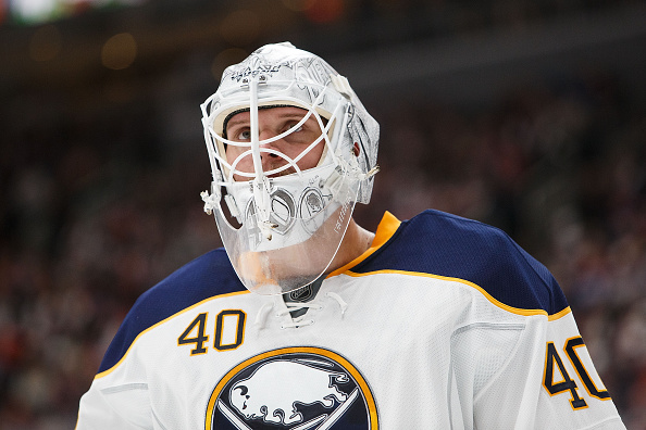Robin Lehner stopped 37 of 38 shots in the Sabres' win at Winnipeg (Getty Images).