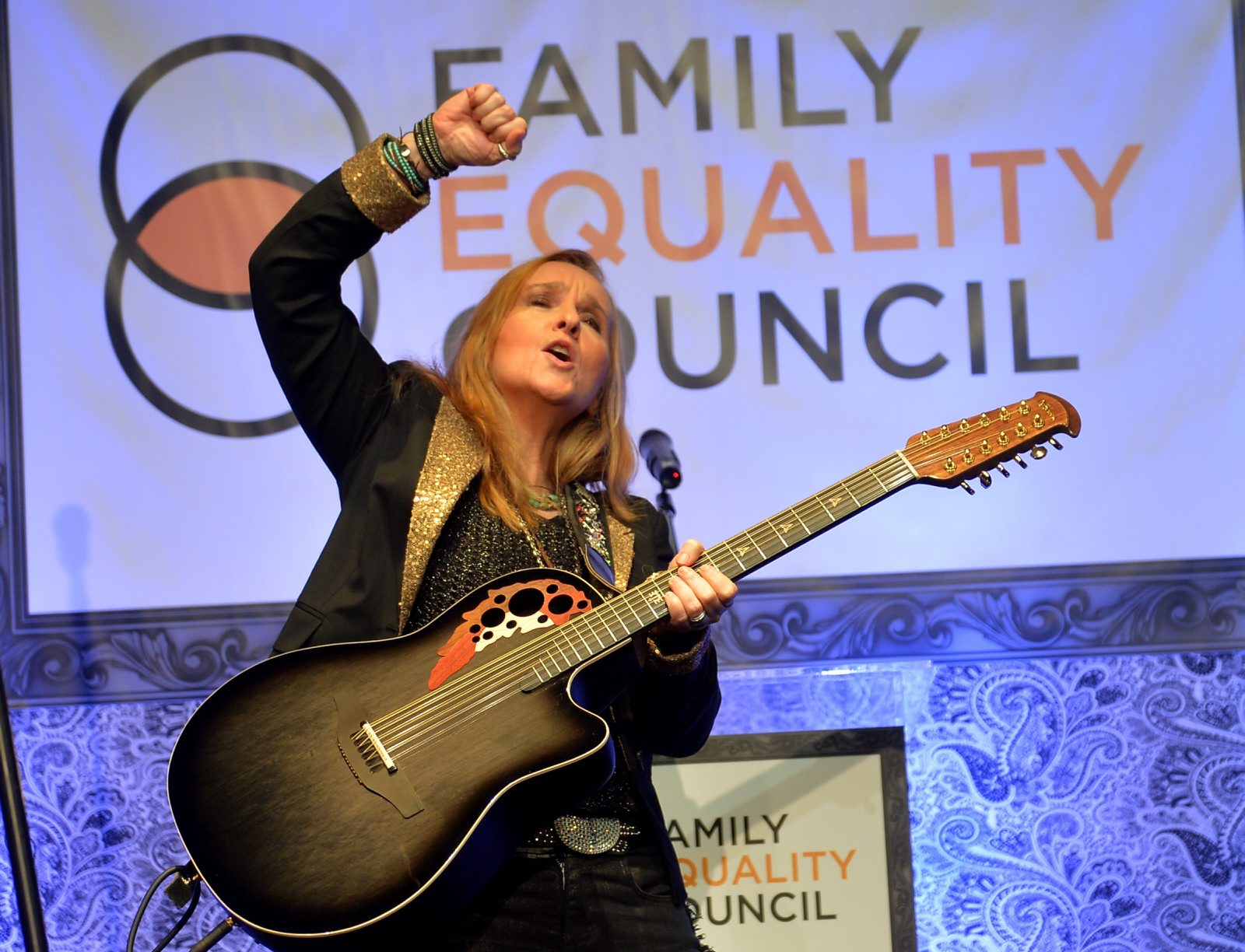 Melissa Etheridge onstage in 2014 at The Globe Theatre. (Charley Gallay/Getty Images)