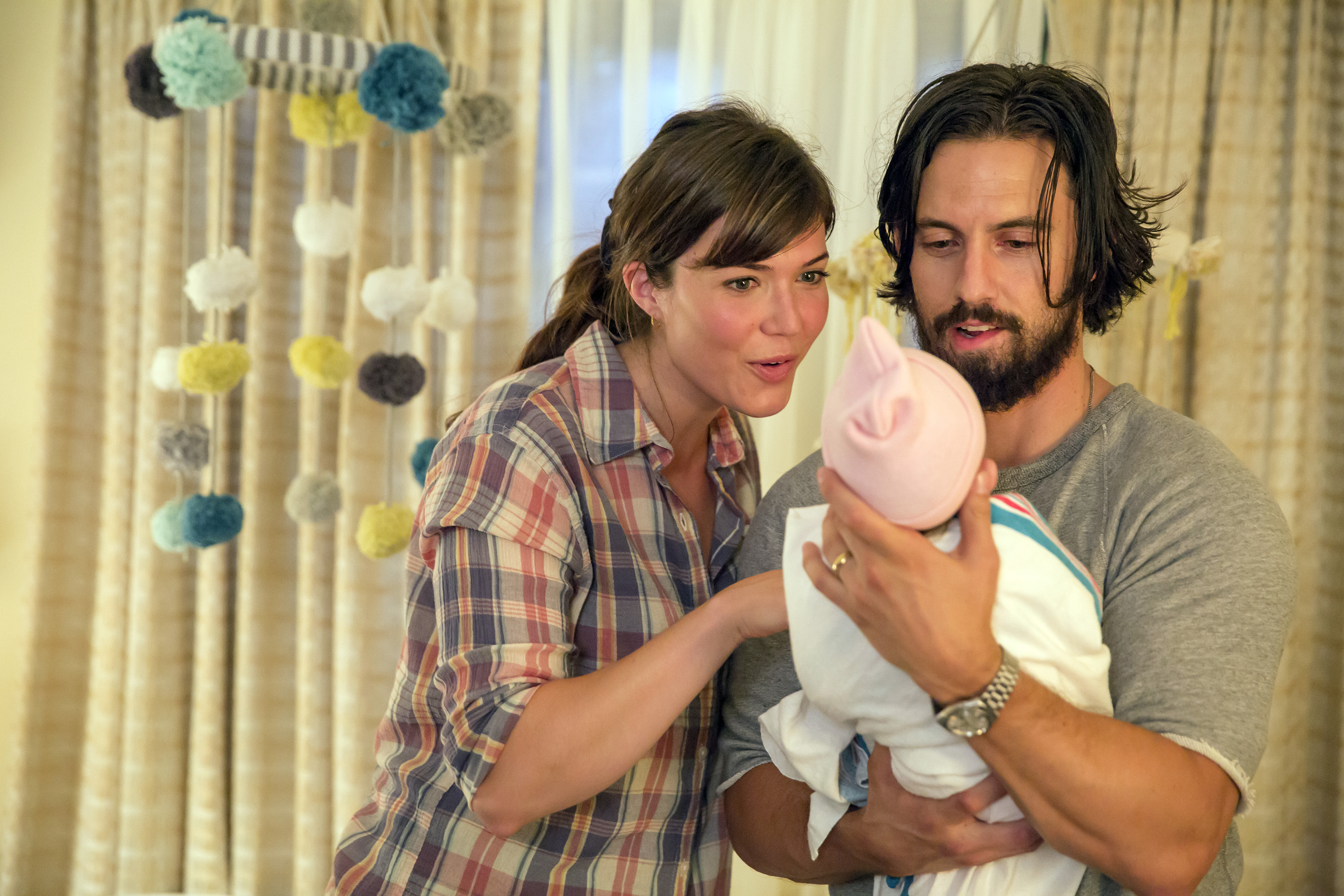 Mandy Moore as Rebecca and Milo Ventimiglia as Jack in 'This is Us.' (Ron Batzdorff/NBC)