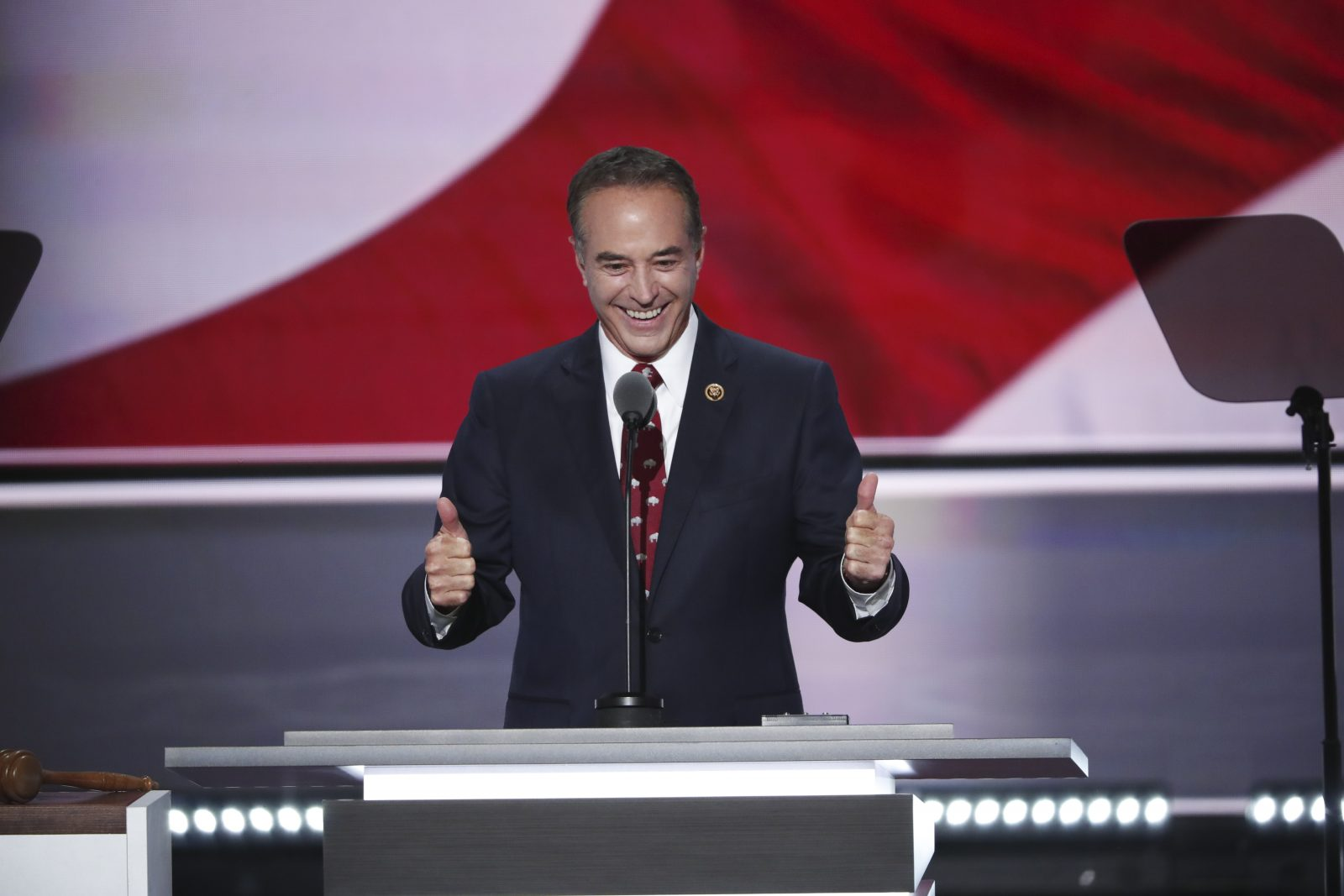 Rep. Chris Collins of Clarence, shown here at the Republican National Convention in Cleveland, won't face a tough challenge this fall if the pundits are right.