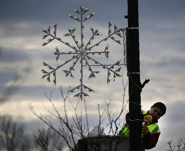 We're only a month or so away from scenes like this as the Buffalo Niagara region prepares for the upcoming holidays, but some real-live snowflakes might be in the air today and tonight, forecasters report. (Mark Mulville/Buffalo News)