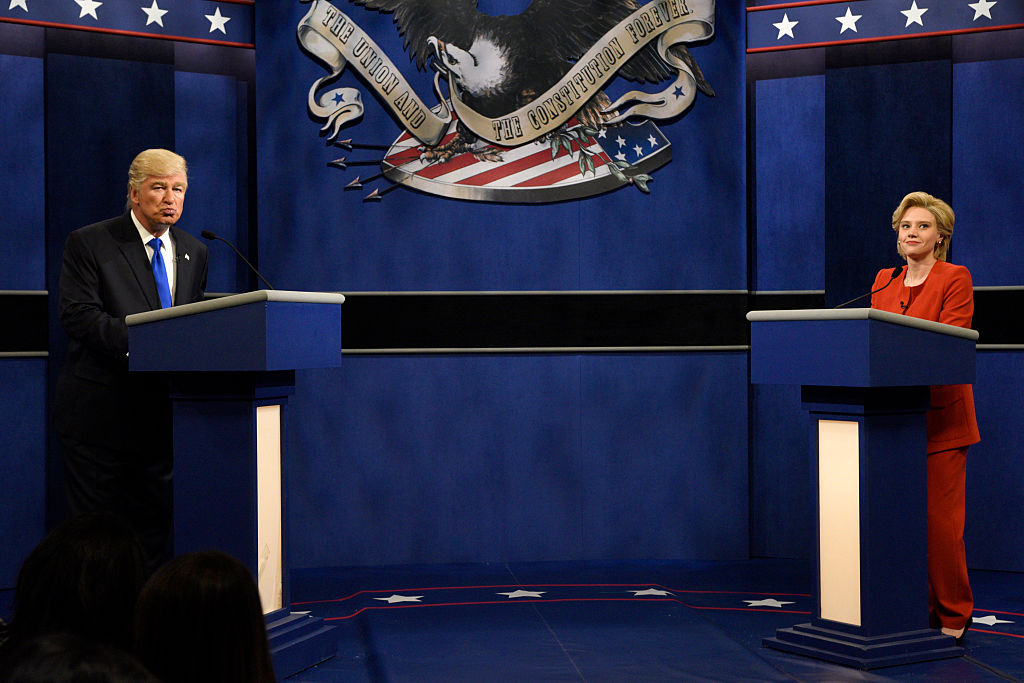Western New Yorkers tuned in to 'Saturday Night Live' for the 'debate' between Alec Baldwin as Republican Presidential Candidate Donald Trump and Kate McKinnon as Democratic Presidential Candidate Hillary Clinton. (Will Heath/NBC/NBCU Photo Bank via Getty Images)