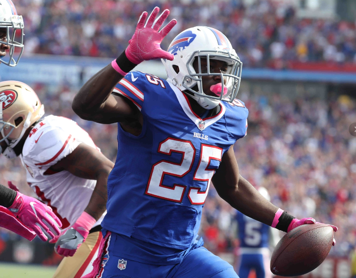 The faces around him have changed, but running back LeSean McCoy remains a constant in the Bills offense.  (James P. McCoy/Buffalo News)