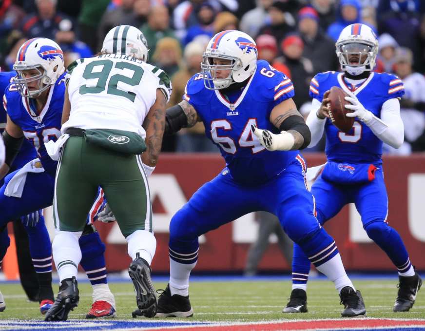 Richie Incognito and the Bills' offensive line are better than most in the league, especially in the running game. (Harry Scull Jr./Buffalo News file photo)