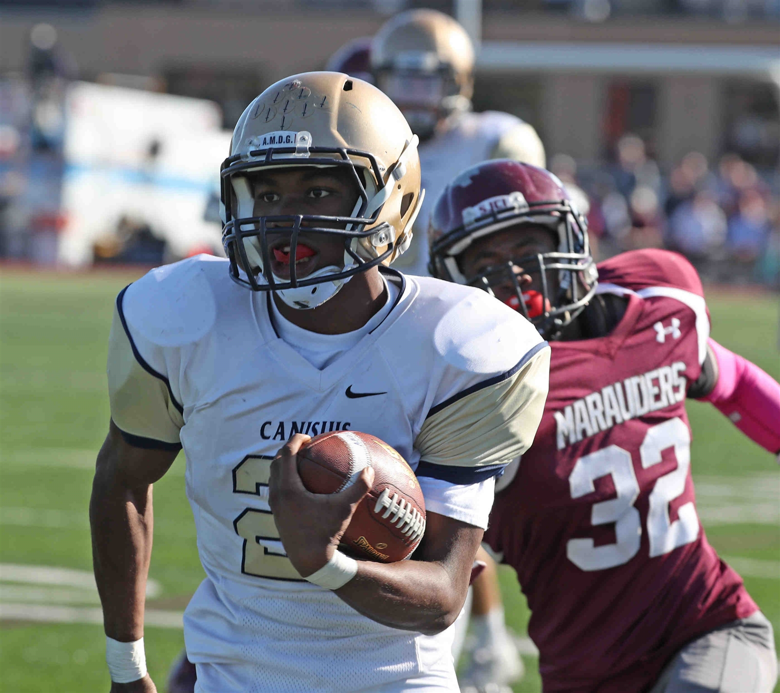 Raeqwon Greer of Canisius rushes for a touchdown during a recent game against St Joe's High School. (James P. McCoy/ Buffalo News)