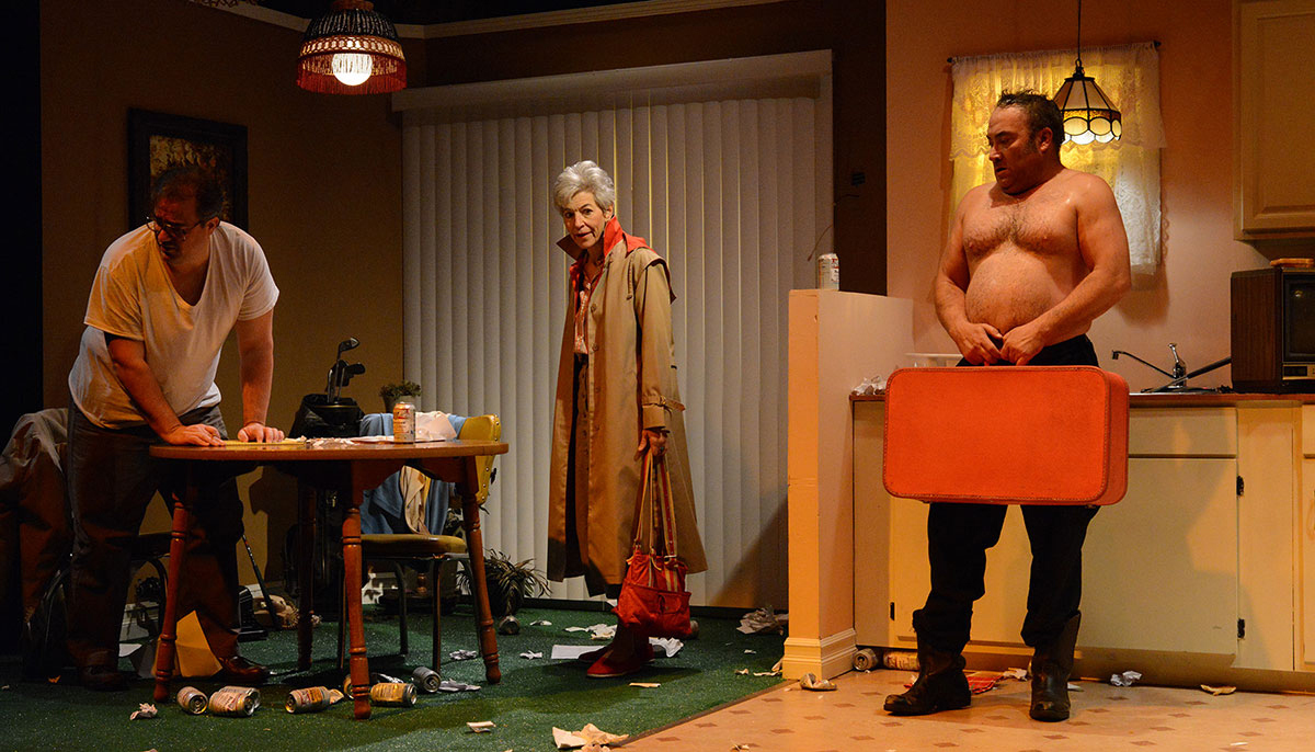 Matt Witten, Christina Rausa and David Mitchell in Road Less Traveled Production of 'True West'