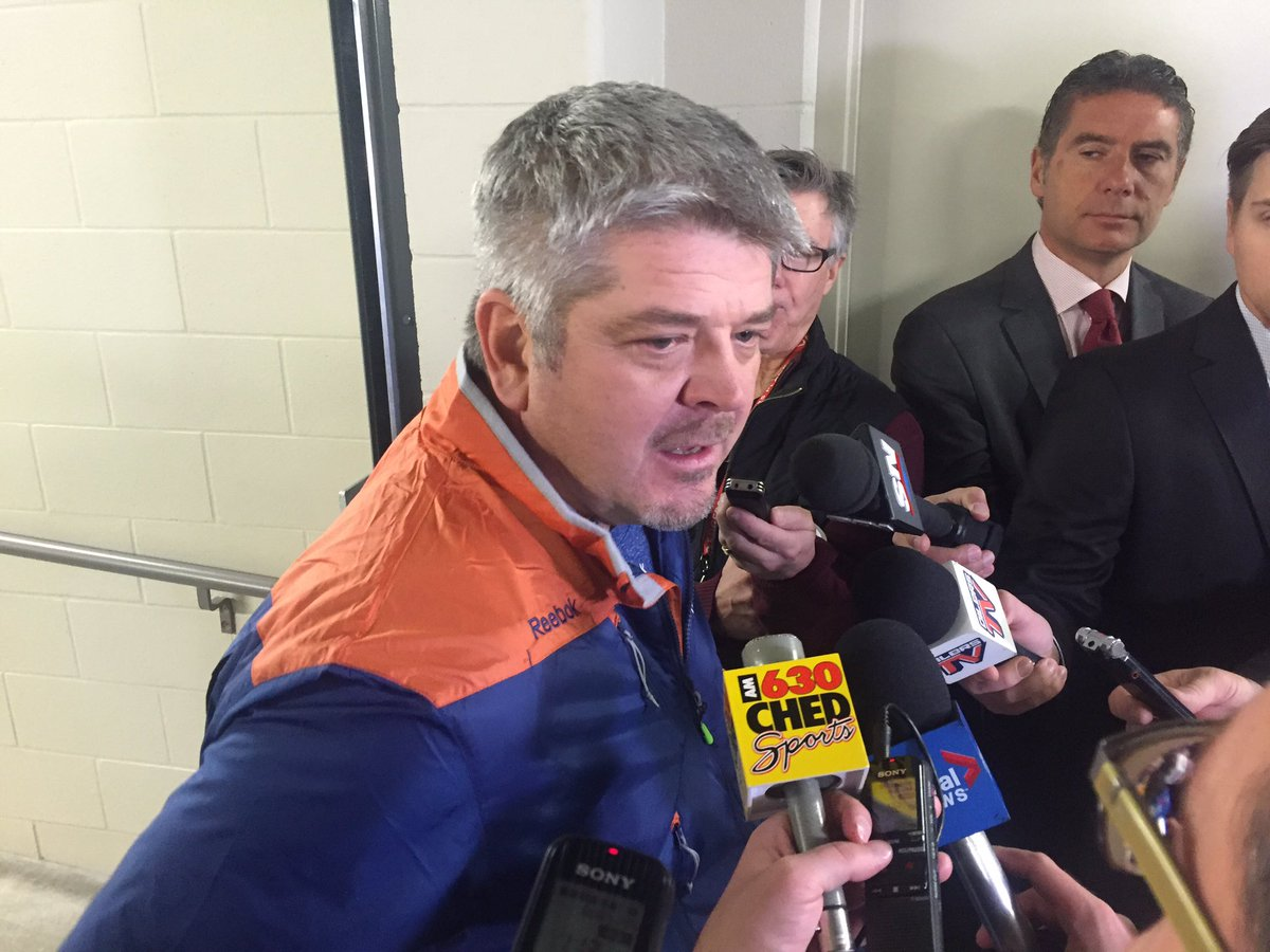 Oilers coach Todd McLellan speaking Saturday on Jack Eichel: 'The losers in it all are the fans. Certainly the Buffalo fans are going to miss him at home and so are his teammates.' (Mike Harrington/Buffalo News).