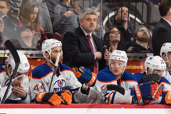 Todd McLellan was not happy with the Oilers on Sunday night (Getty Images).