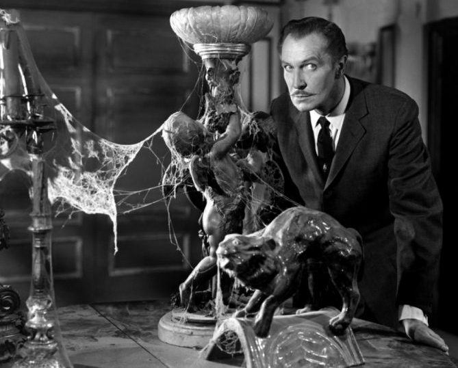 "Vincent Price has some tricks up his sleeve in ""The House on Haunted Hill."""