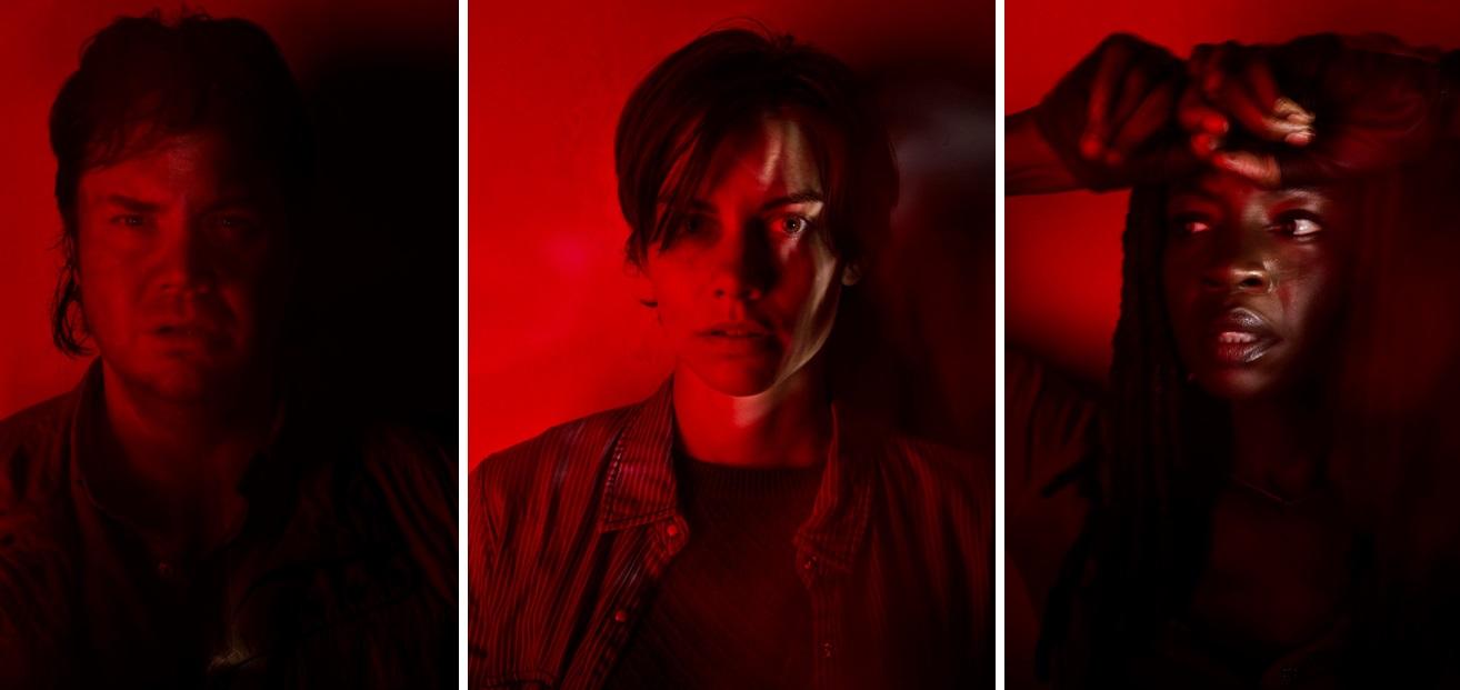 From left, Eugene (Josh McDermitt), Maggie (Lauren Cohan) and Michonne (Danai Gurira).
