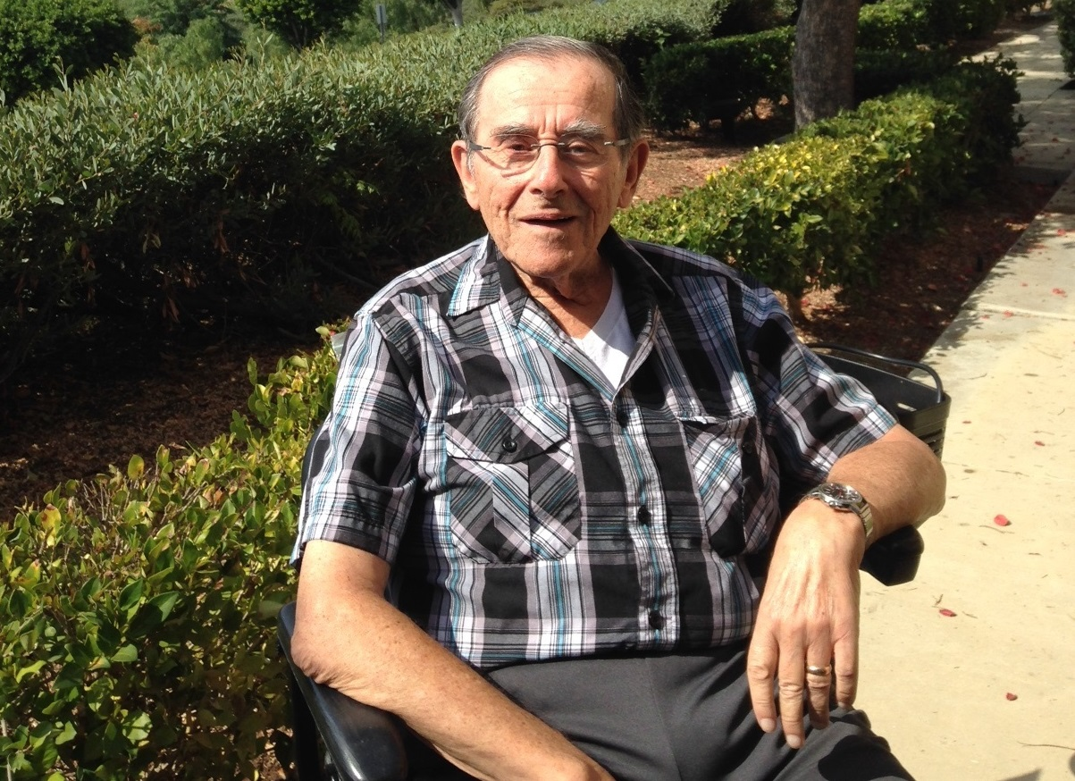 Irv Weinstein at his home in California. (Photo courtesy of Weinstein family)