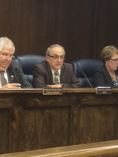 North Tonawanda Mayor Arthur G. Pappas presents his budget to the Common Council