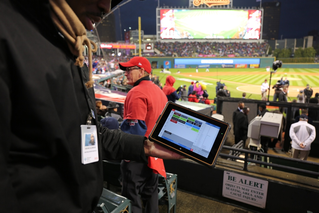 Bak USA tables are being used at the World Series.