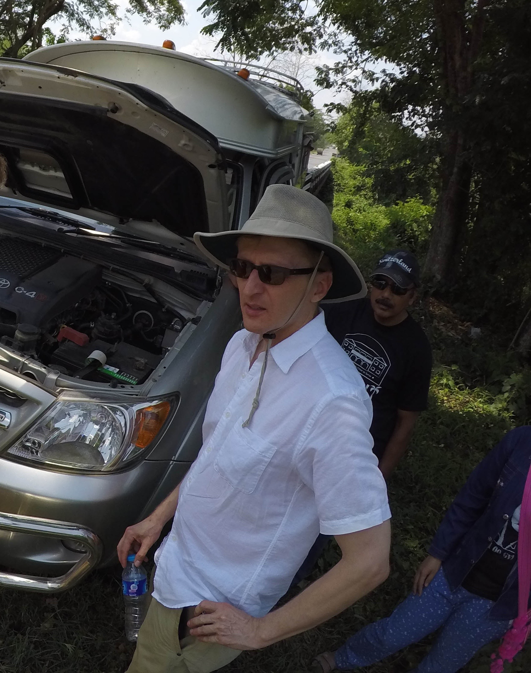 Buffalo News reporter Jerry Zremski, stranded in the Thai jungle after a truck breakdown. (Derek Gee/Buffalo News)