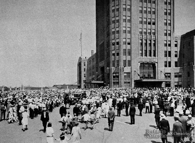 "The Central Terminal was hailed as  'another milestone in the progress of the metropolitan city of Buffalo,"" when this photo was taken in 1929."