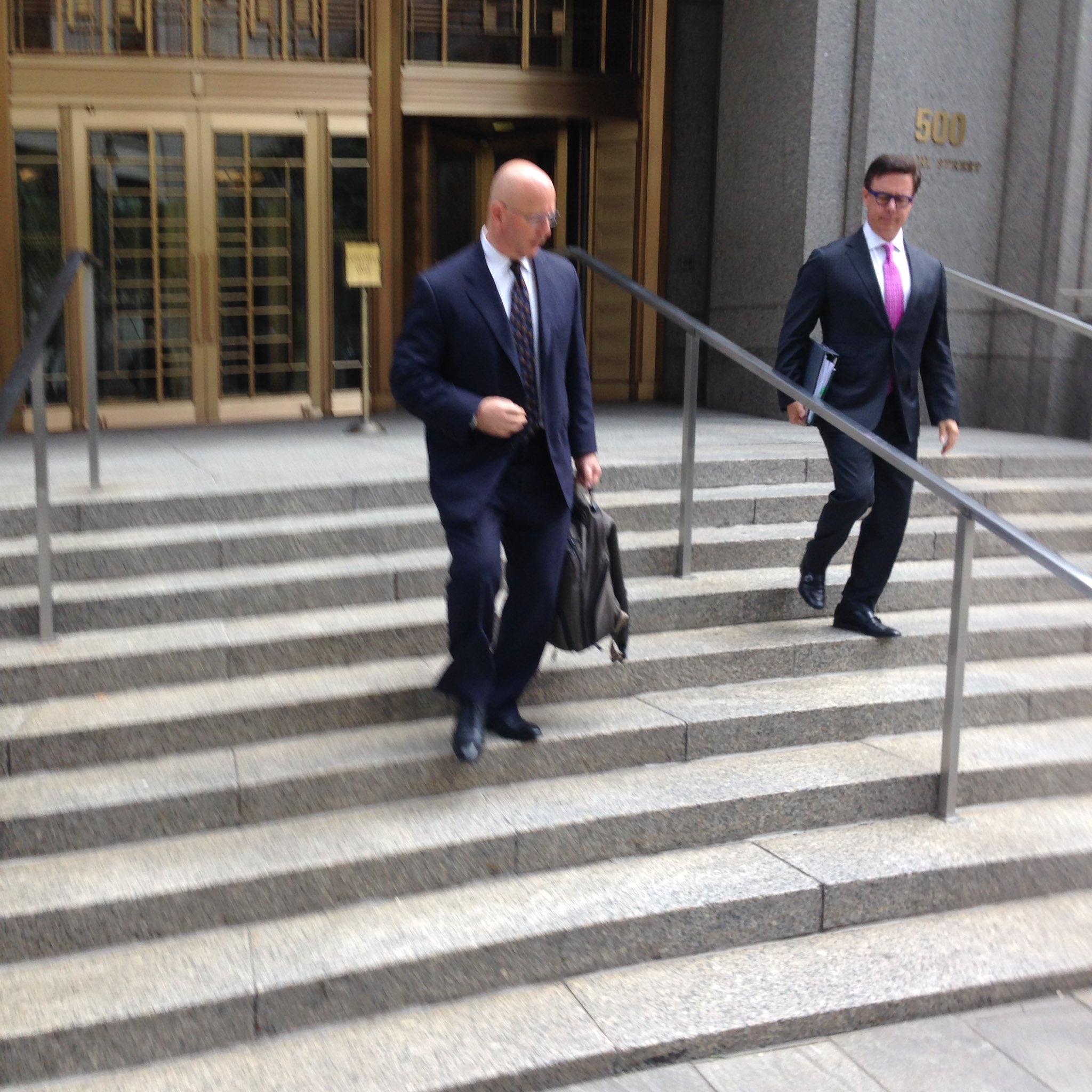 Louis Ciminelli leaving Manhattan federal court Monday. (Phil Fairbanks/Buffalo News)