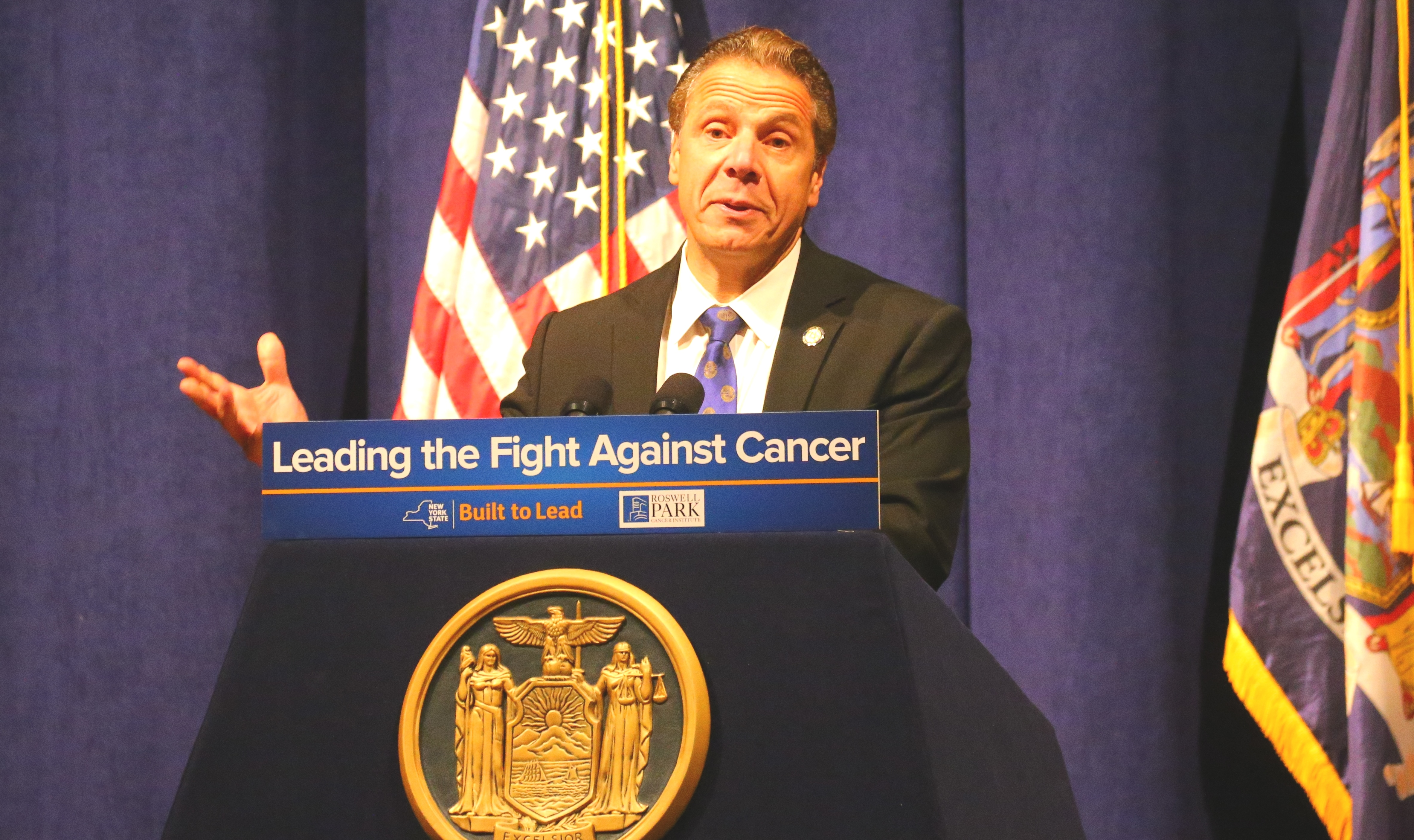 """""""This groundbreaking trial at Roswell Park is the result of our historic partnership with Cuba, and is a testament to New York's storied legacy as a national leader in progress and innovation,"""" Gov. Andrew Cuomo said in a statement about a Cuban vaccine that will be studied at Roswell Park Cancer Institute."""