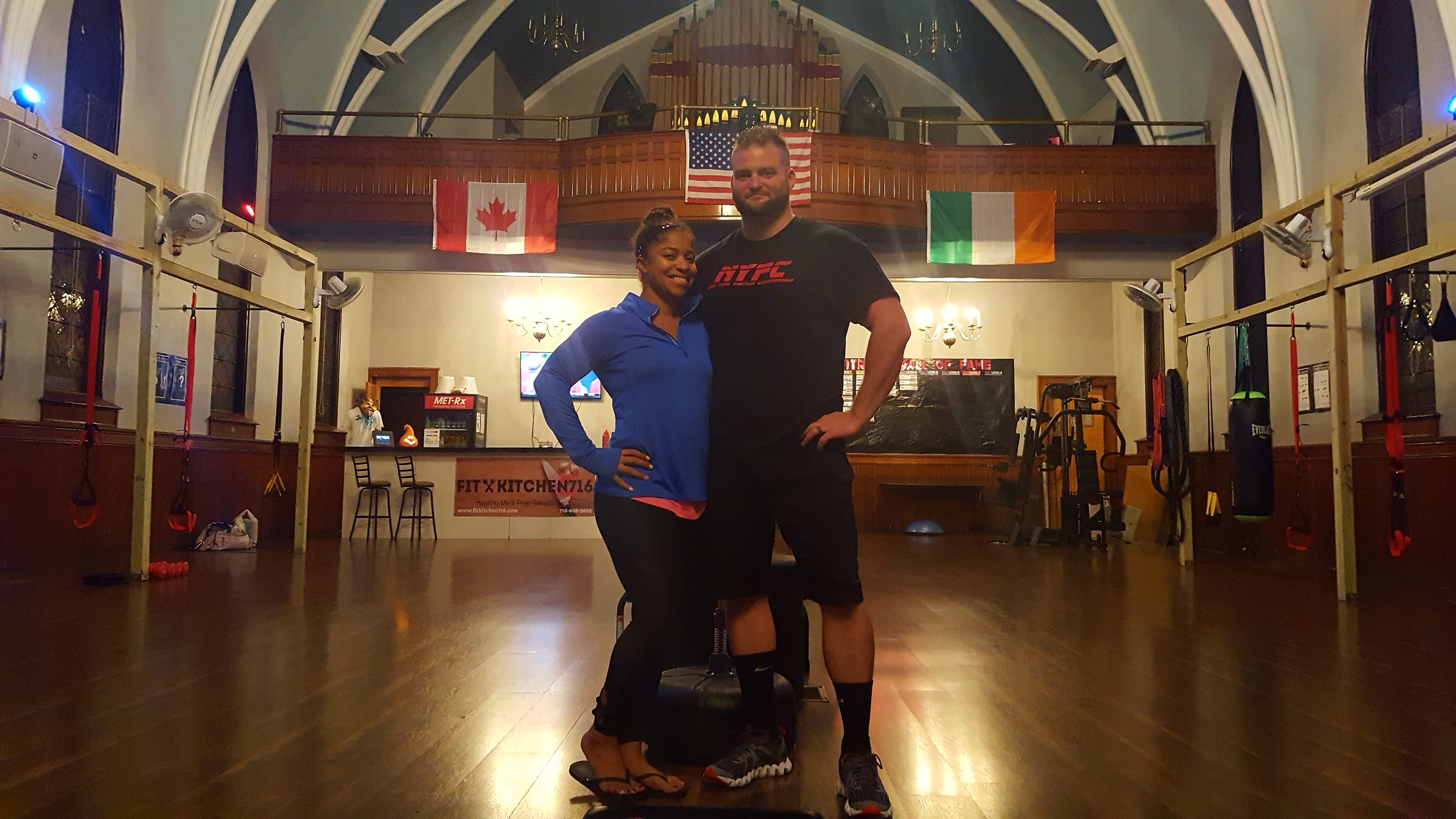 Ashley and Jeremy Ramsey opened their fitness studio last year in the former Ascension Catholic Church.