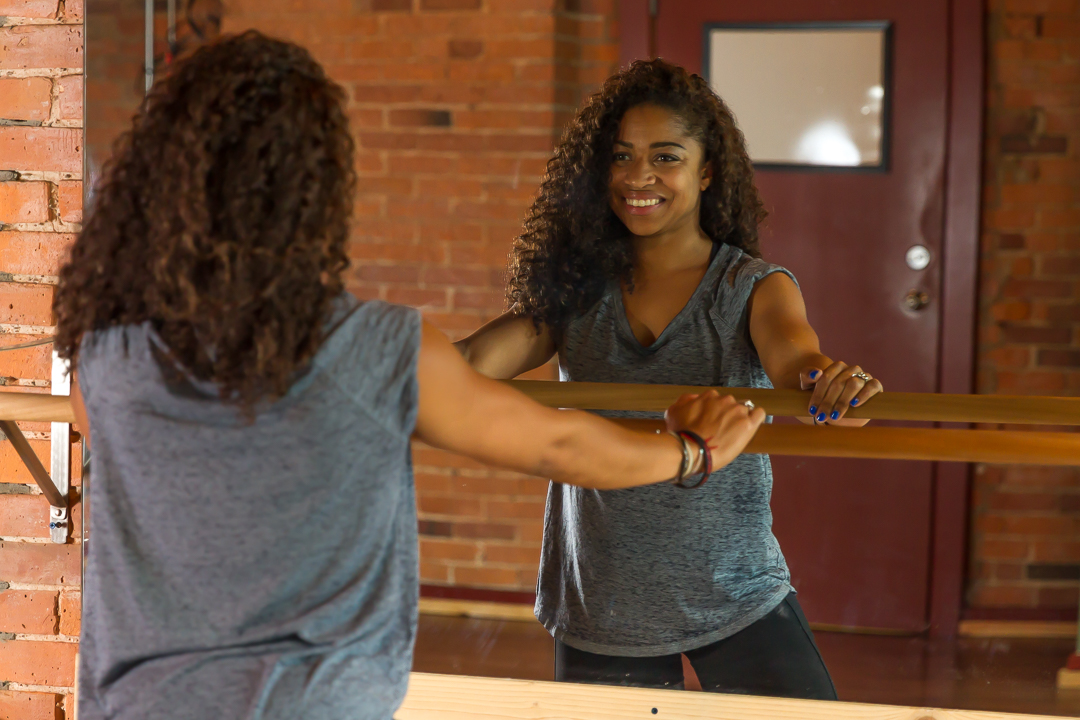 Ashley Ramsey, co-owner of F.I.T. Method Studio, says BarreFlow is a fluid mixture of barre, yoga, Pilates and strength training. (Photo by Iggy McDonald)