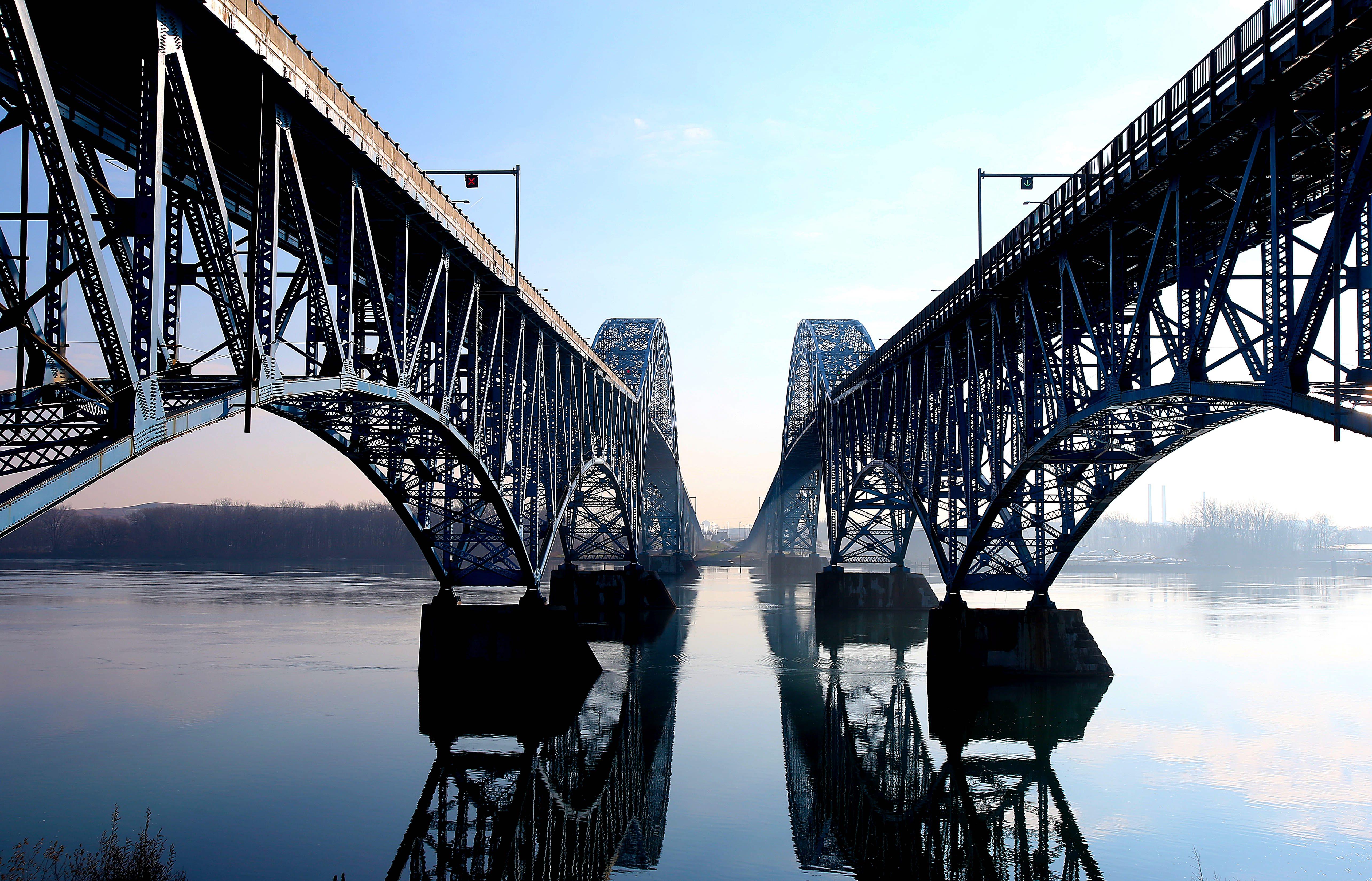 The Grand Island bridges. (Robert Kirkham/Buffalo News)