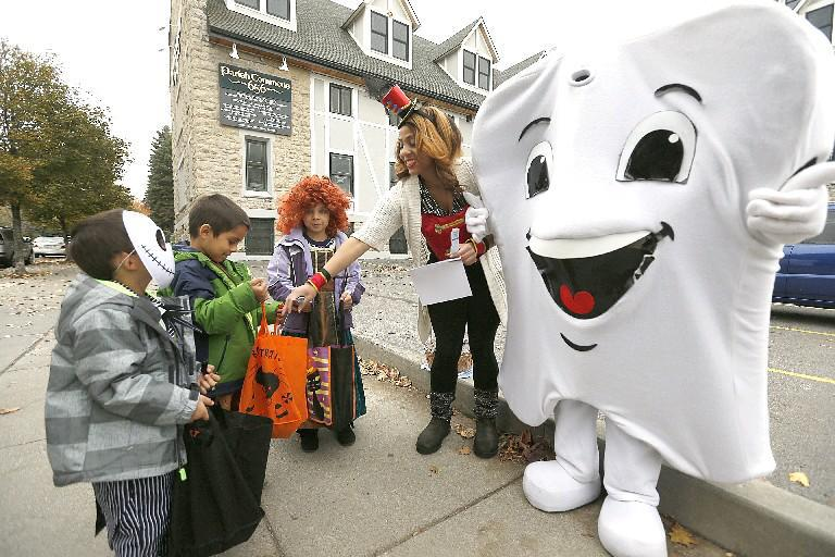 Trick-or-treating will be a dry experience this year. It's the first all-dry Halloween day in Buffalo since 2008, according to National Weather Service data. (Buffalo News file photo)