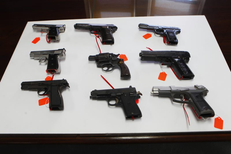A new report concludes guns are flowing into New York from states with weaker gun laws. (John Hickey/Buffalo News file photo)