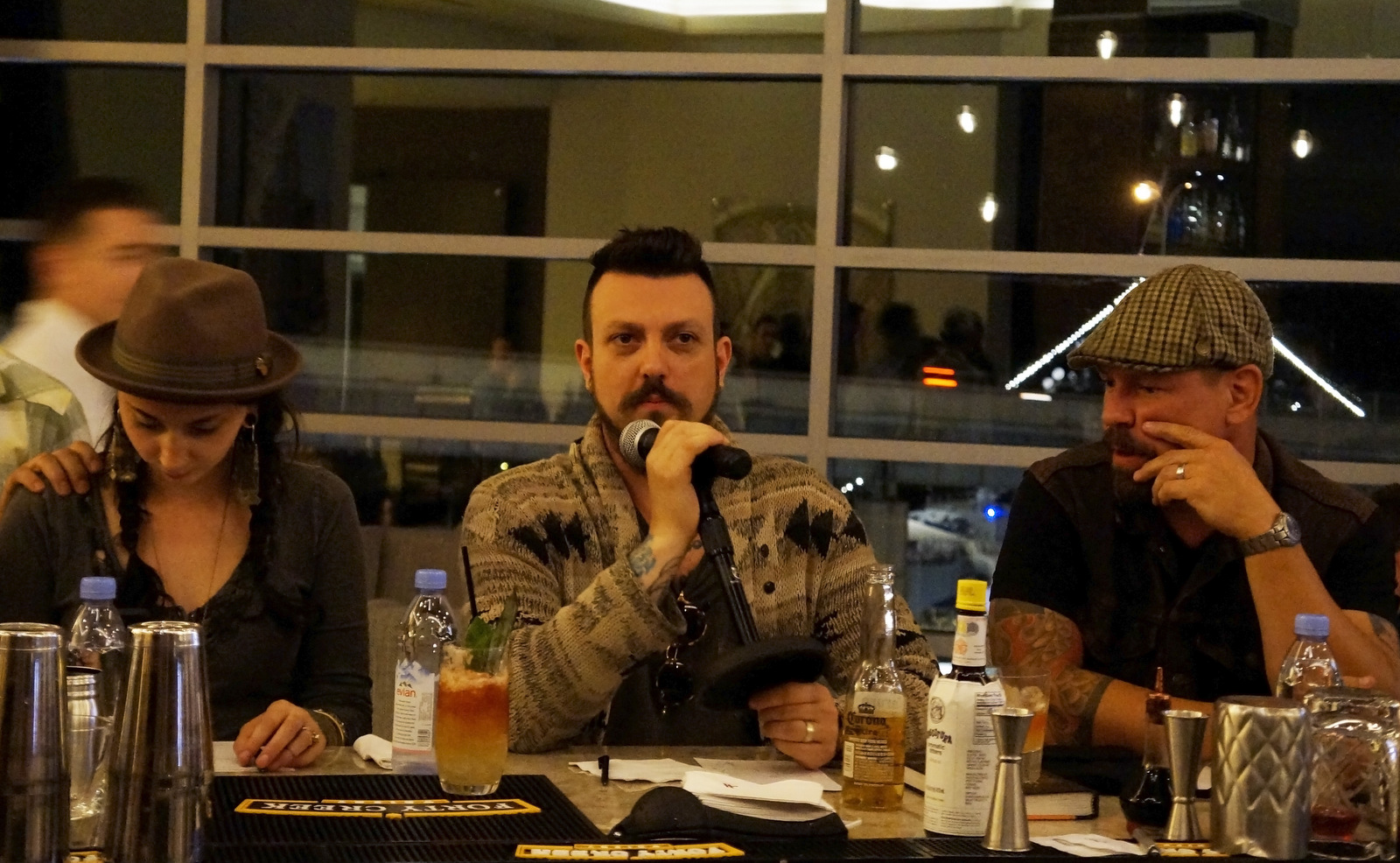 Feedback from industry veterans is helping young bartenders hone their edge. Judging were, from left, Kerry Quaile and Jon Karel of Buffalo Proper, and Tim Stevens of Ballyhoo. Not shown: Dan Hagen of Billy Club, and USBG chapter president Lauren Kowalski. (Lizz Schumer/Special to The News)