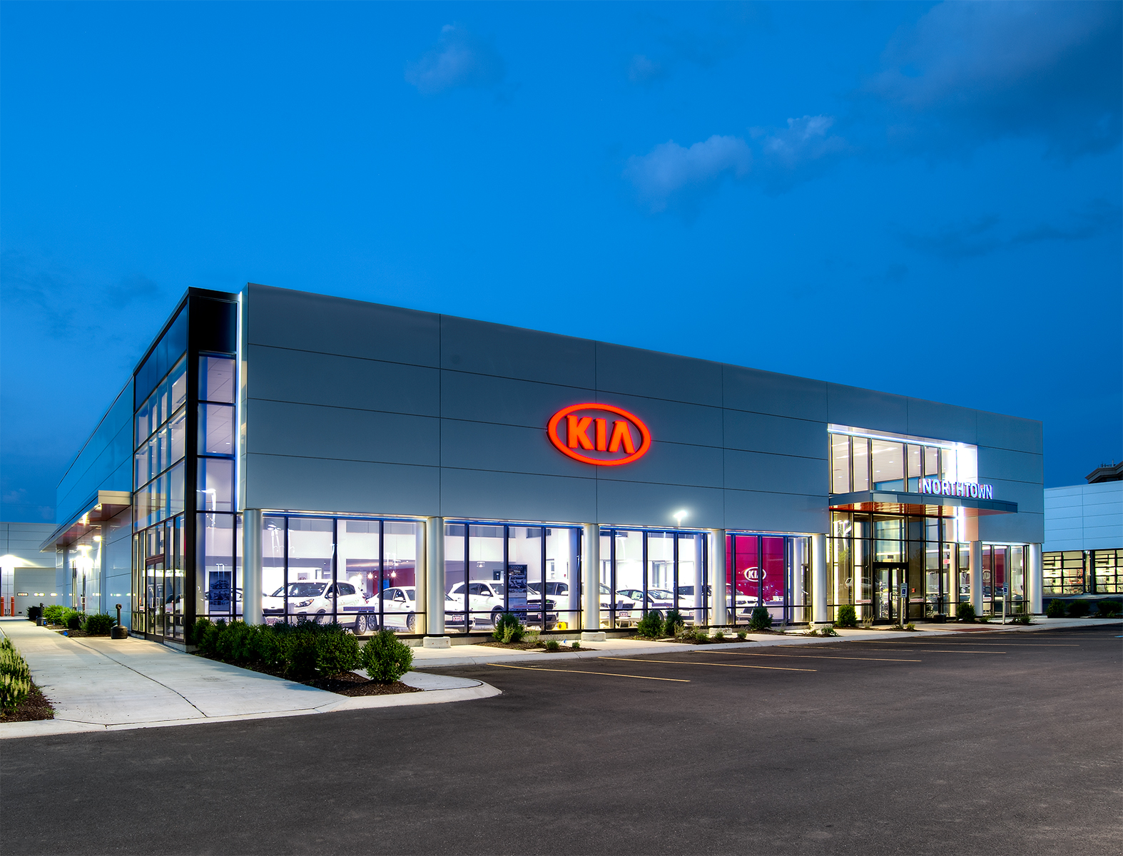 Northtown Automotive's new Kia dealership and multi-store automotive complex on Sheridan Drive in Amherst