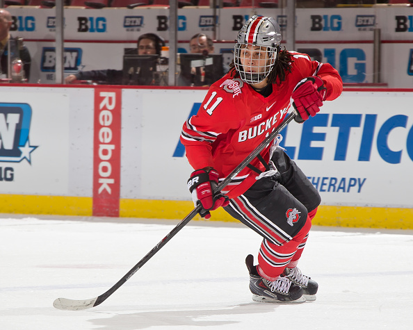 Amherst native  Christian Lampasso had an assist for Ohio State against Niagara. (Getty Images)