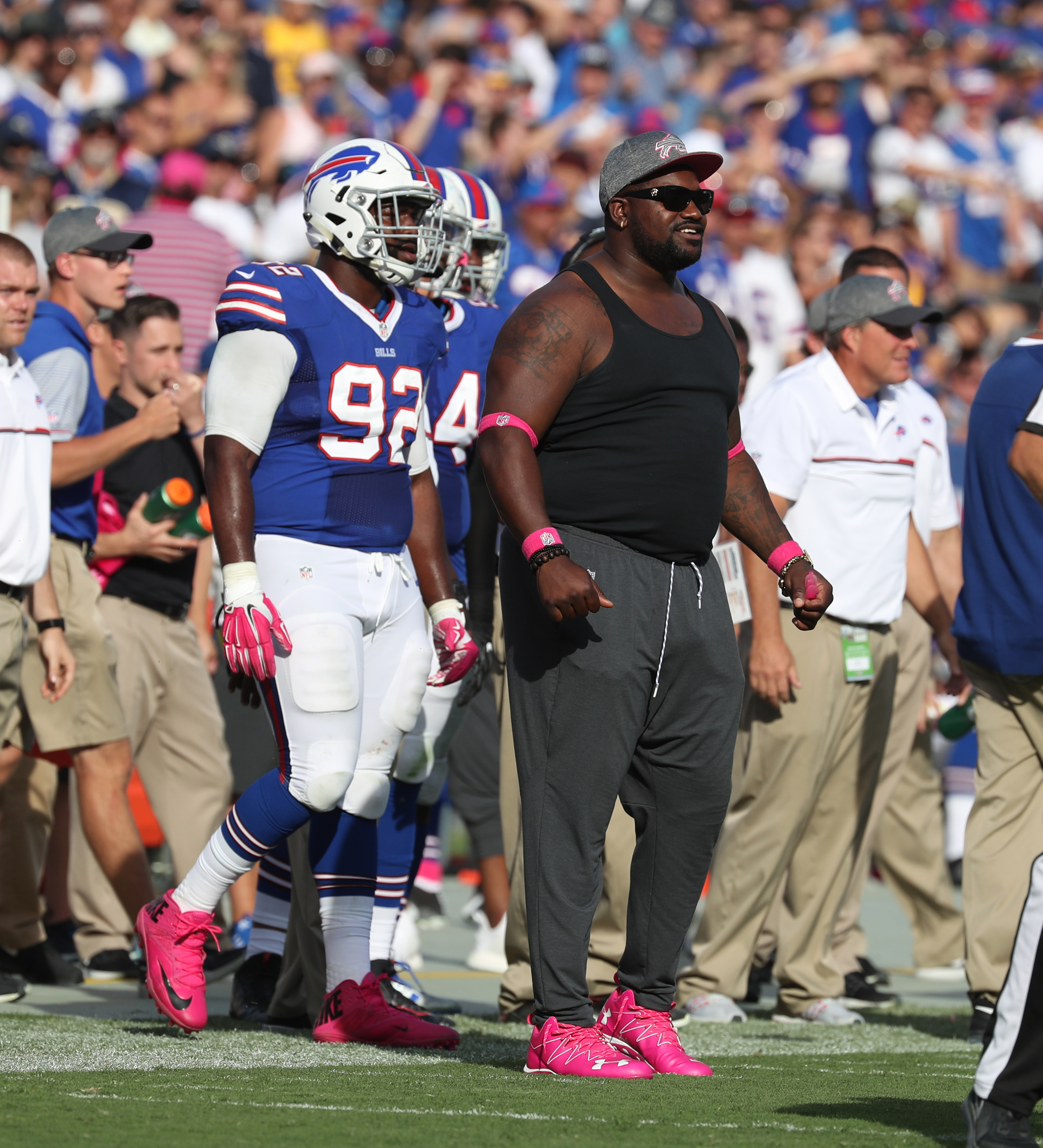Bills defensive tackle Marcell Dareus missed half of last season due to a suspension and injuries. (James P. McCoy/ Buffalo News)