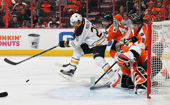 Matt Moulson looks to find his touch around the net again. (Getty Images)
