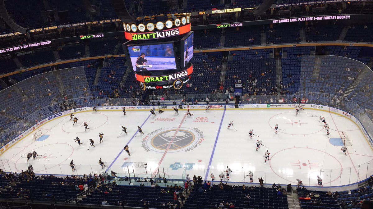 The Sabres and Panthers get set for their meeting at KeyBank Center. (John Vogl/Buffalo News)