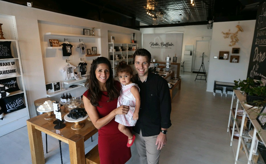 """Sleep is most important for children, says """"sleep enthusiast"""" Soda Kuczkowski, pictured with her husband, Andrew, and their daughter, Ryan, 2."""
