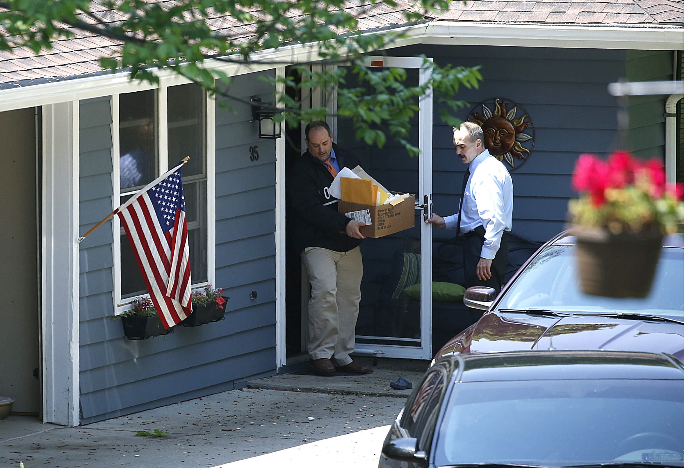 New York state investigators raid former Buffalo Deputy Mayor Steven M. Casey's home at 35 Park Lane, East Aurora seizing evidence and computers on Thursday, May 28, 2015. (Robert Kirkham/Buffalo News)