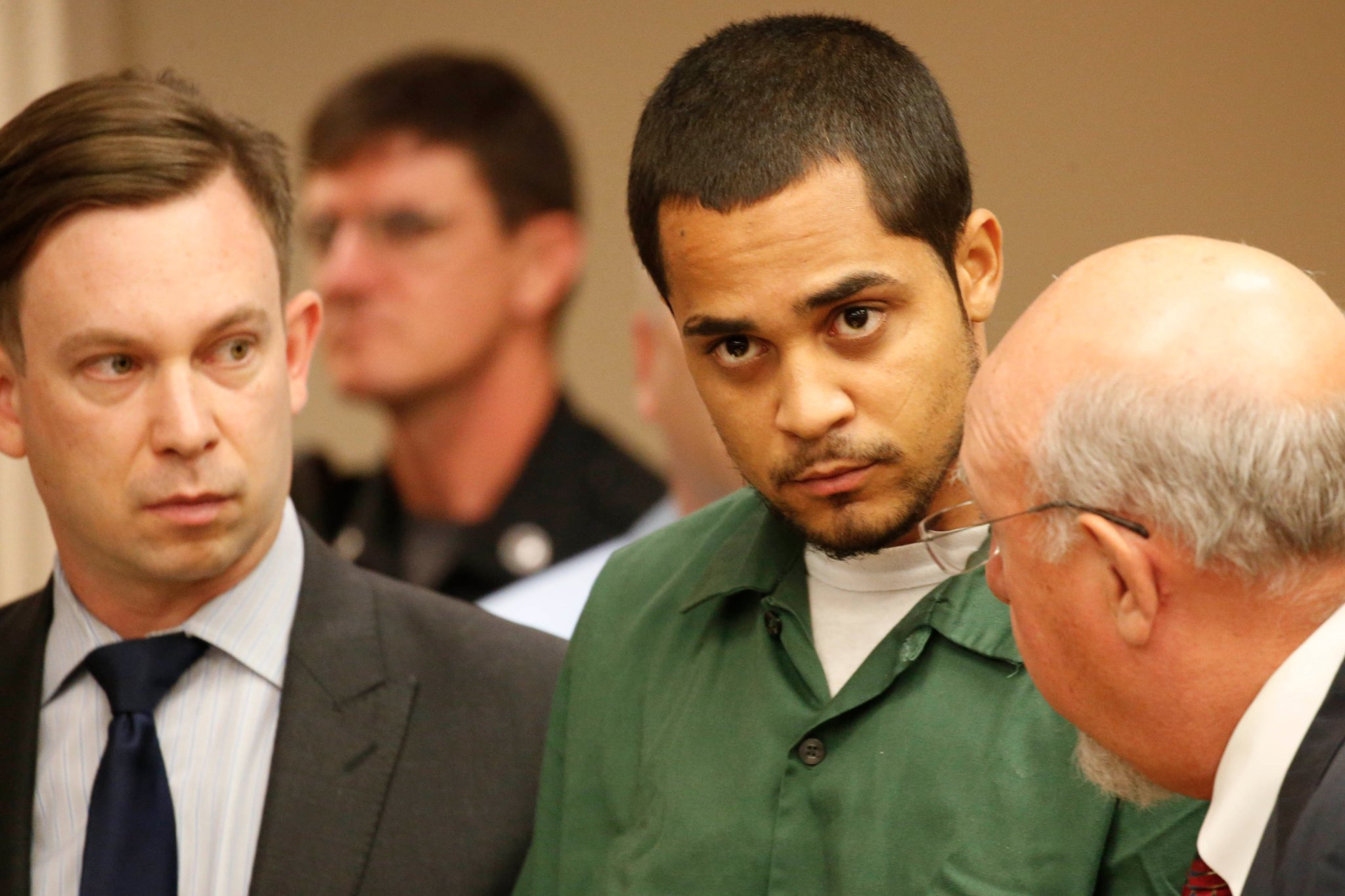 Jorge Suarez, center, was sentenced to 25-years-to-life. (Buffalo News file photo)