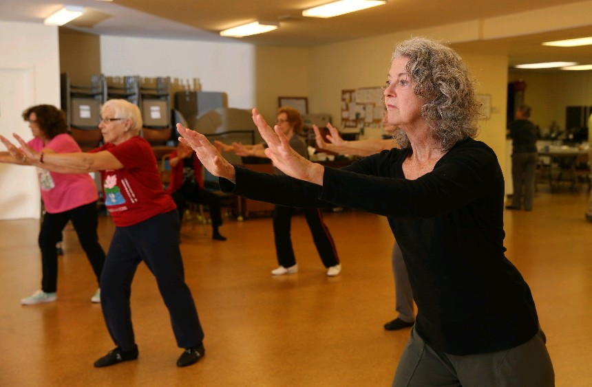 Kathy Morrisey, right, is among those who practices tai chi on Saturday at Taoist Tai Chi Society of USA, 968 Kenmore Ave. . (Sharon Cantillon/Buffalo News file photo)