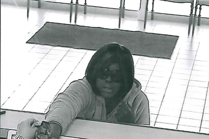 A security camera image shows the woman police say robbed a West Seneca bank on Wednesday afternoon. (West Seneca police)