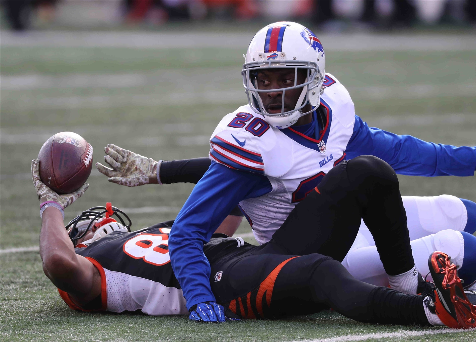 Bills safety Corey Graham took every defensive snap during his team's Week 11 win over the Bengals. (James P. McCoy/Buffalo News)