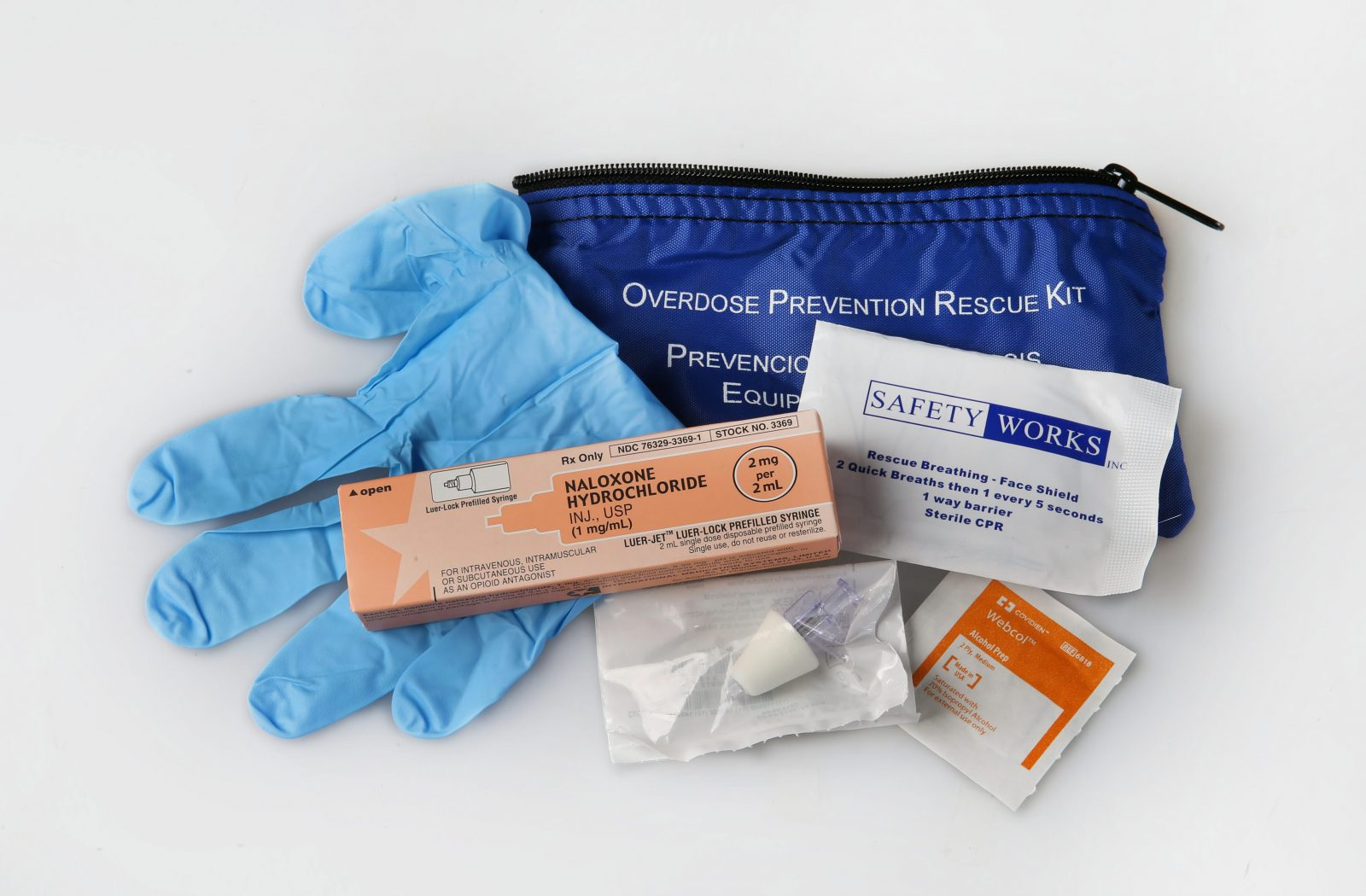 A Narcan kit is used to treat suspected opioid overdoses. (Sharon Cantillon/News file photo)
