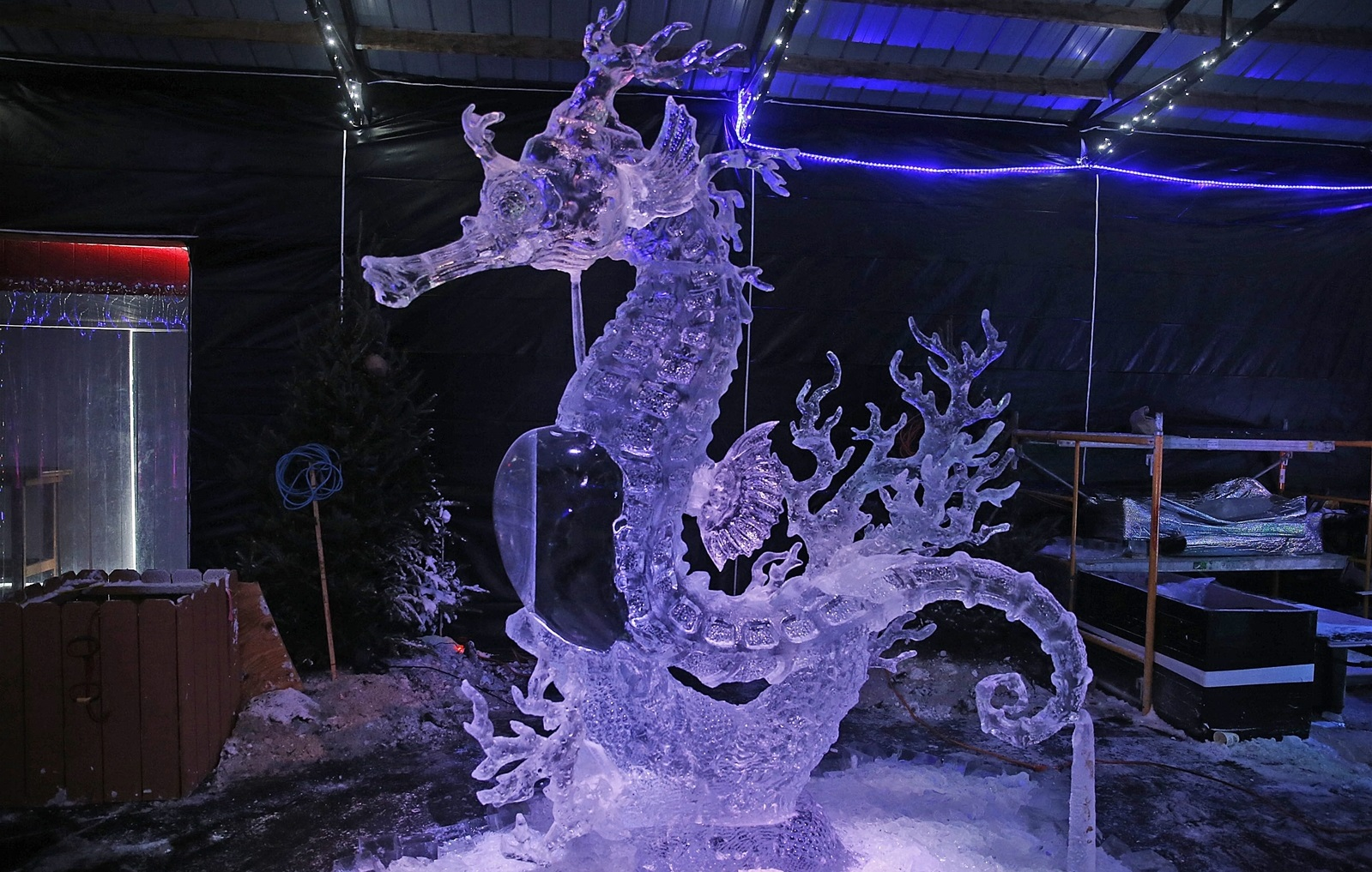 A finished product from the 2015 Great Lakes Ice Carving Competition. (Robert Kirkham/Buffalo News file photo)