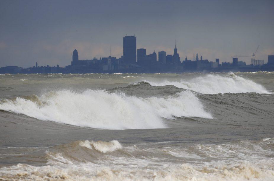 Winds stir big waves on Lake Erie. (Mark Mulville/Buffalo News file photo)