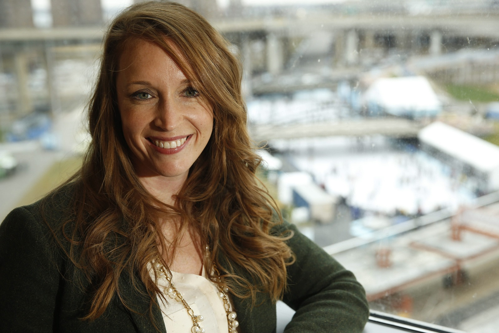 After more than a decade as a Republican operative in Washington, Andrea Bozek, 33, has returned home to work in public relations and crisis communications. (Derek Gee/Buffalo News)