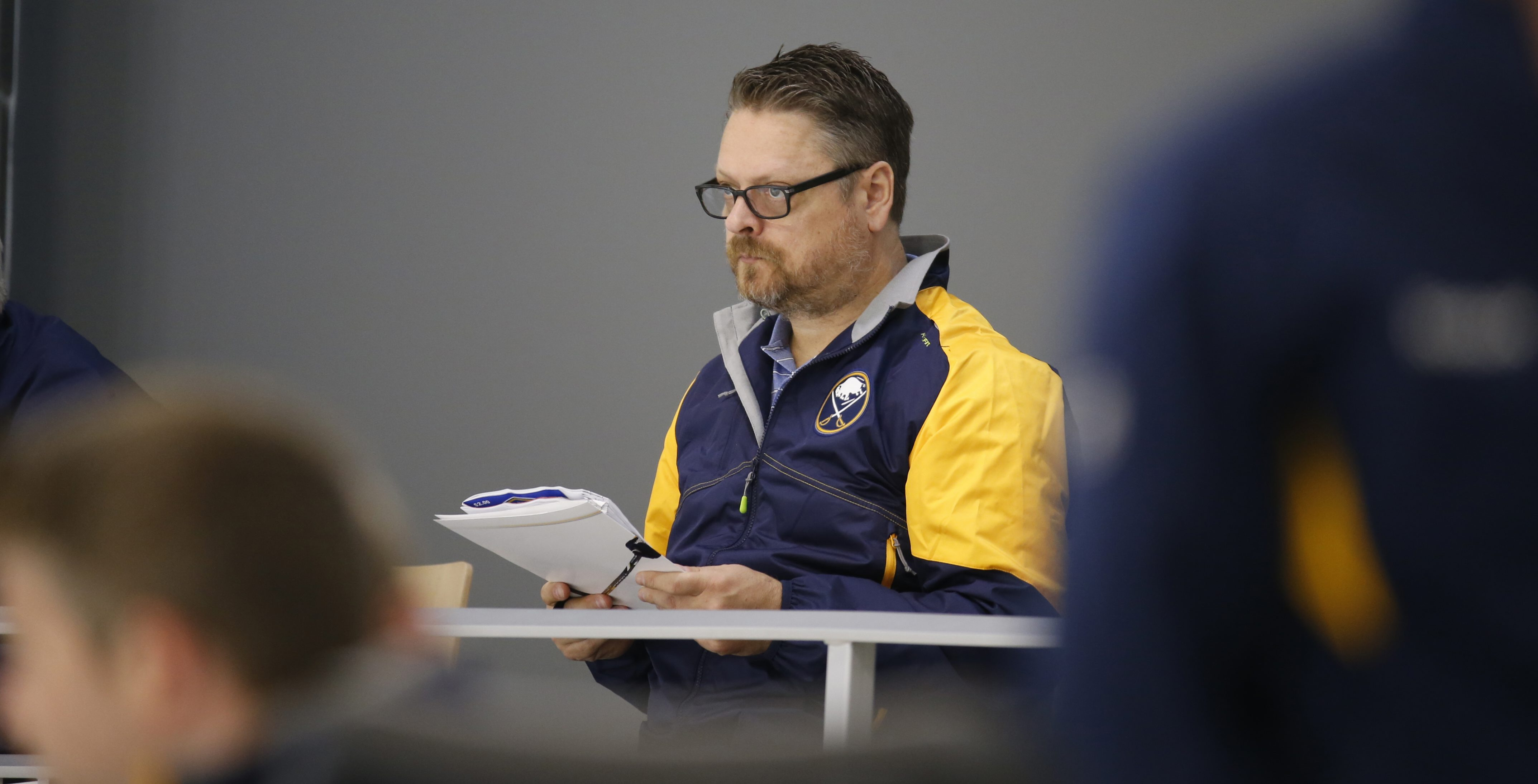 Sabres GM Tim Murray has to pay attention to the salary cap every day. (Harry Scull Jr./Buffalo News)
