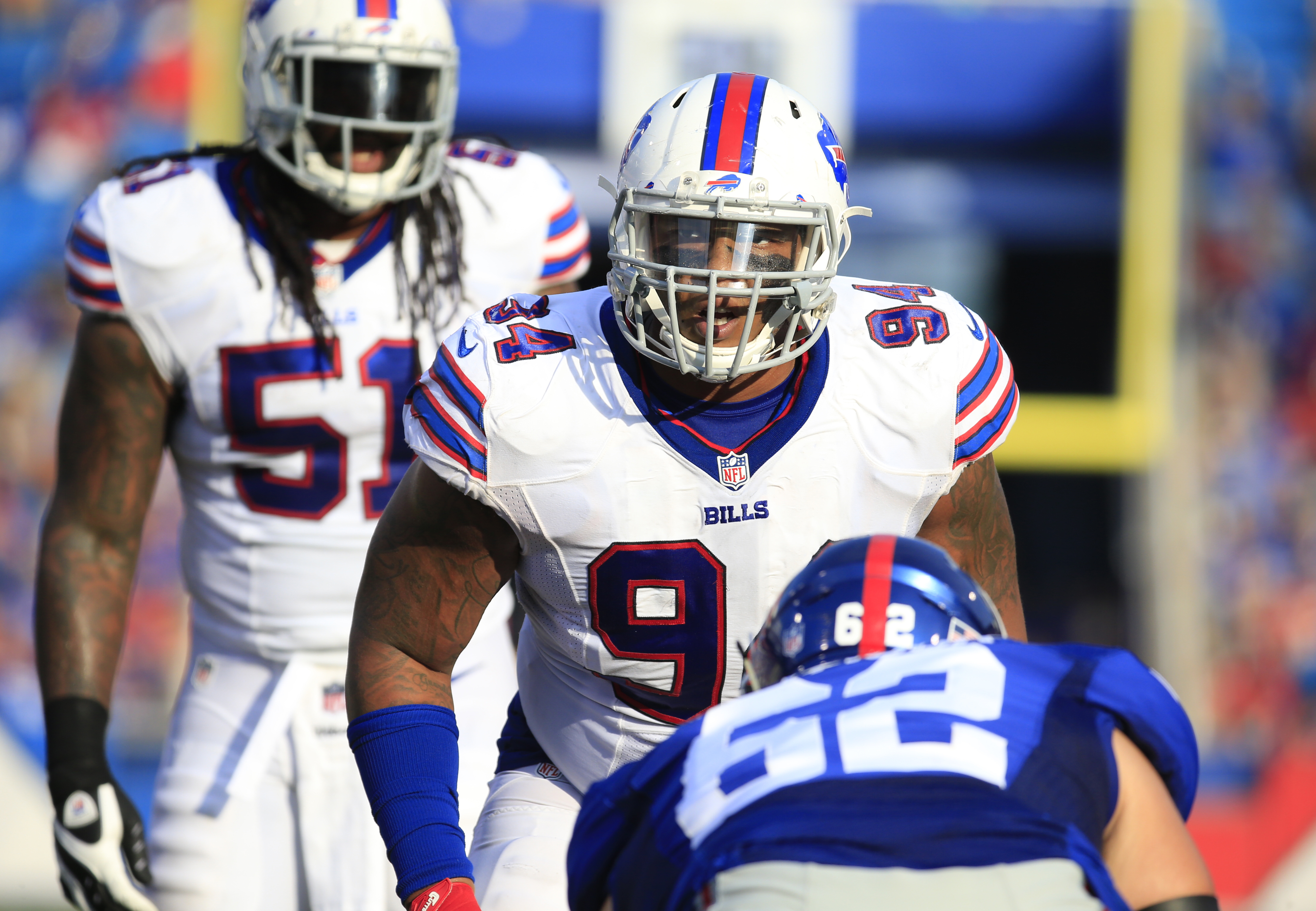 Jerel Worthy had one of his better games in the Bills' loss at Seattle. (Harry Scull Jr./Buffalo News)