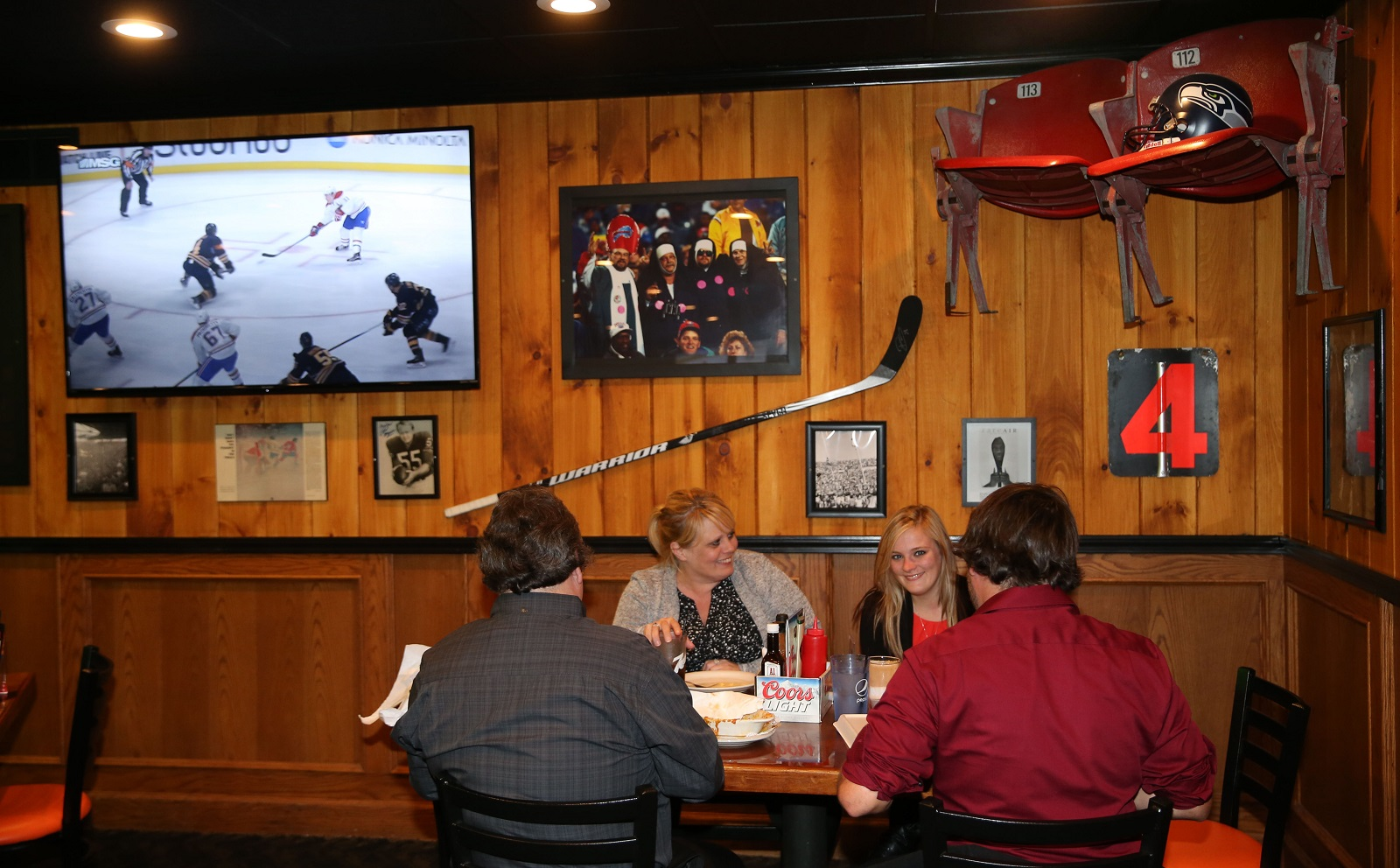 Mooney's newest location is at 1537 Union Road in West Seneca. The walls are filled with local sports sports memorabilia. (Sharon Cantillon/Buffalo News)