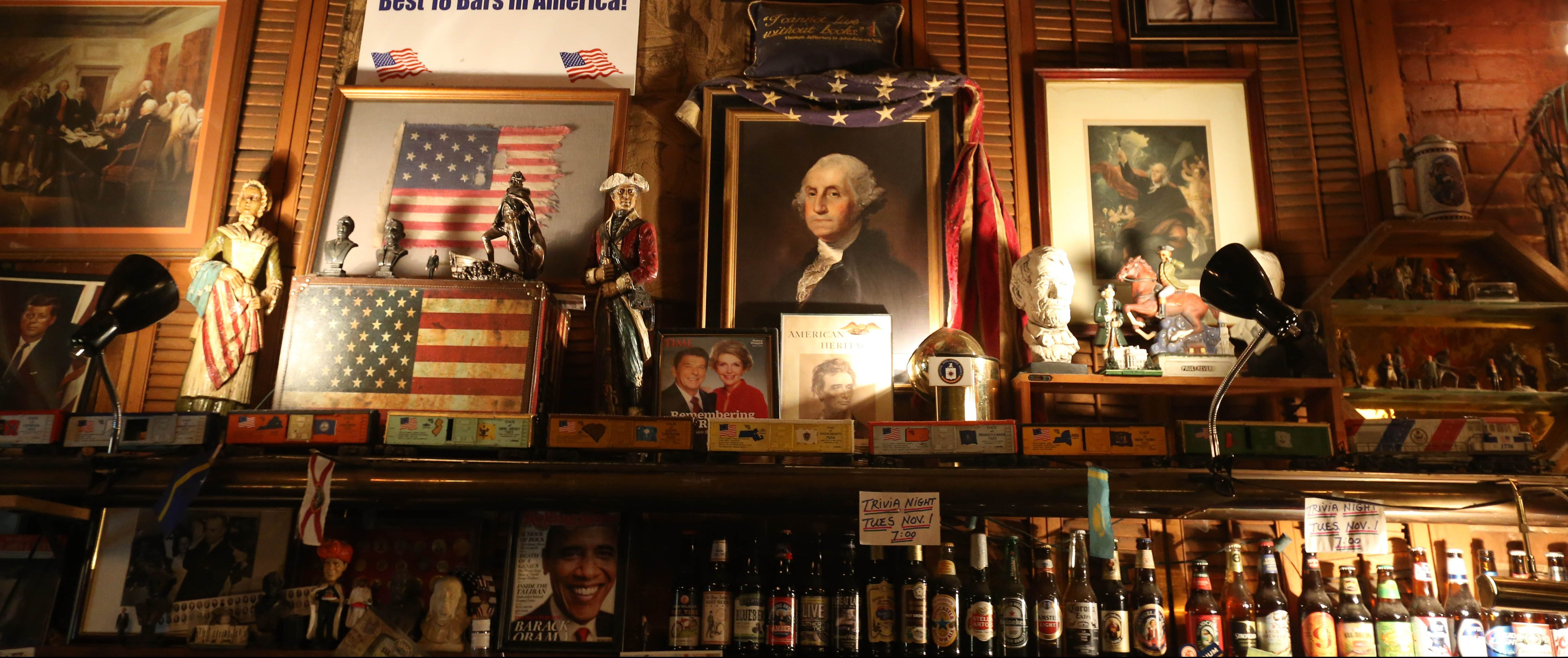 Founding Fathers Pub at 75 Edwards St. in Buffalo is filled with historical artifacts. (Sharon Cantillon/Buffalo News)