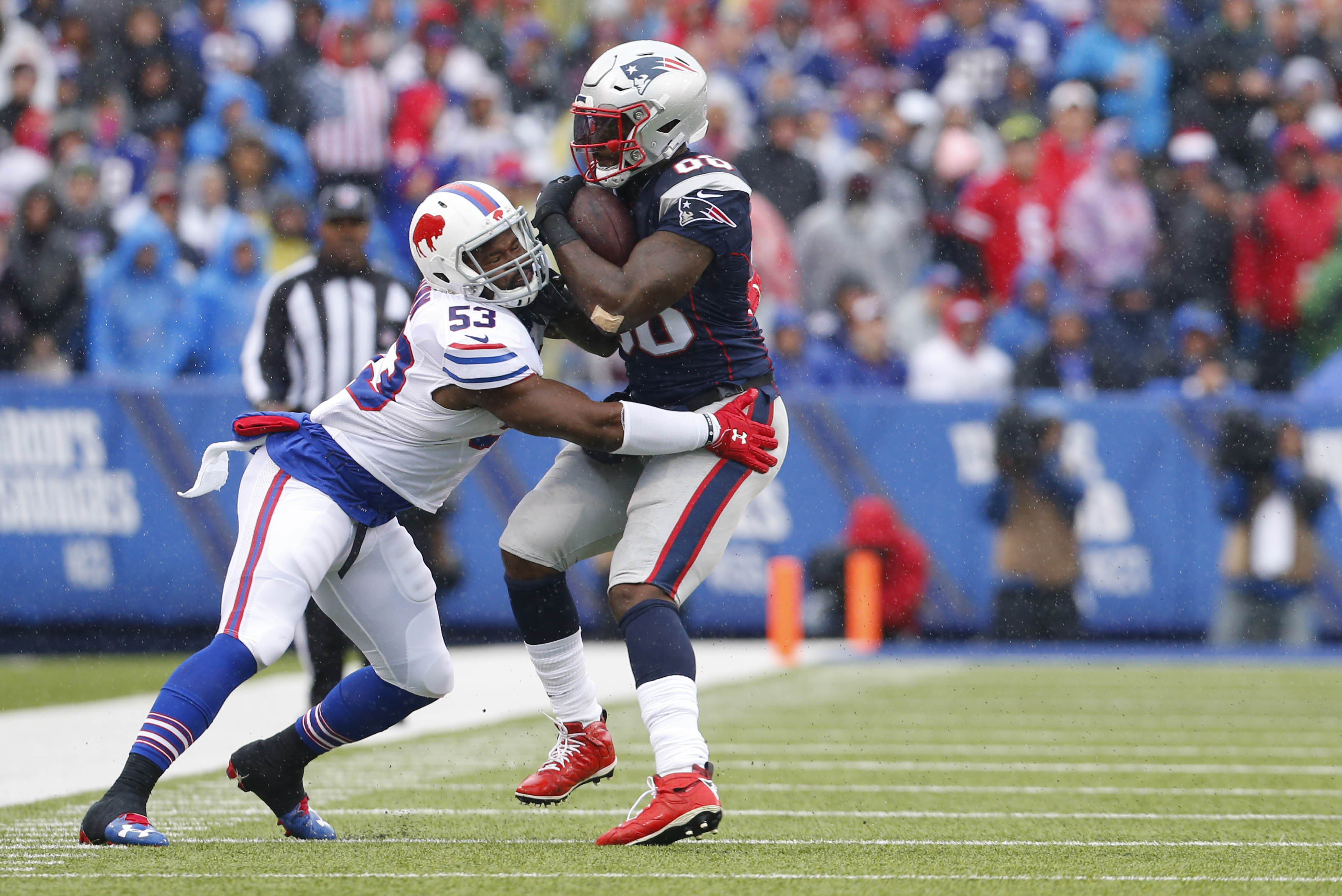 Zach Brown has emerged as the leading tackler on the Bills and leads a strong linebacker corps (Mark Mulville/Buffalo News).
